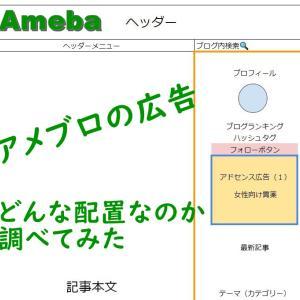 [アドセンス研究]アメブロの広告配置を調べてみた~PC編~