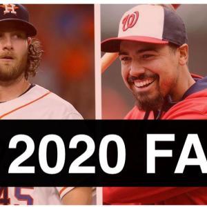 【MLB移籍情報】2020シーズンのFA/トレード・プレーヤー・リスト
