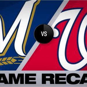 まるで帝京-和智弁戦!壮絶なMIL@WSH戦は延長14回にE・テームズの2ランHRで決着!(MLB2019)