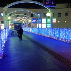 【桶川】今年も桶川駅西口側にイルミネーション