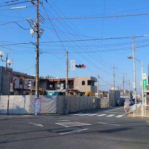 【桶川】旧中山道 桶川駅前交差点辺りで建物解体工事が