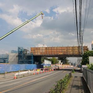 【上尾】2019/6/25「イオンモール上尾」建設地チェック~橋が掛かりました
