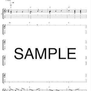 ウクレレソロ楽譜「ふるさと」唱歌