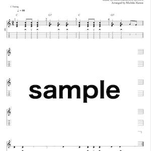 ウクレレソロ動画・楽譜「Sanoe」サノエ〜ハワイアン