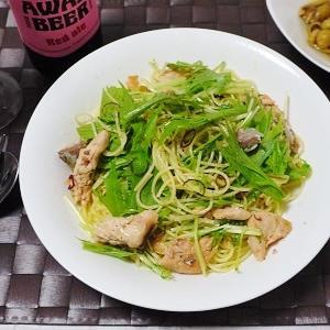 ☆鮭と水菜のペペロンチーノ☆