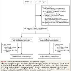 重症COVID-19患者のヘパリン治療用量投与