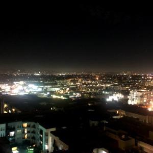 ロスの美しい夜景を眺めながらワイン作りのお手伝い〜♡