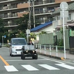 昭島市にて「小さいジープ」