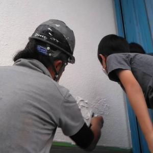 玄関先の塗装体験