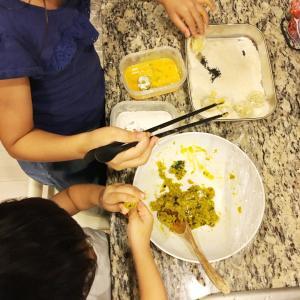 【3歳★台所育児】かぼちゃコロッケ