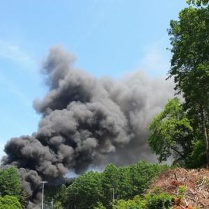 下上野で火災