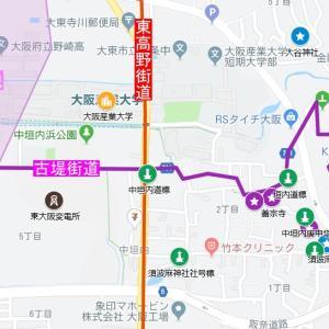 須波麻神社の参道⑳東高野街道・中垣内(大東市)