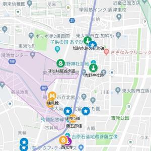 宇波神社の参道⑲河内街道・古箕輪(東大阪市・加納~古箕輪)