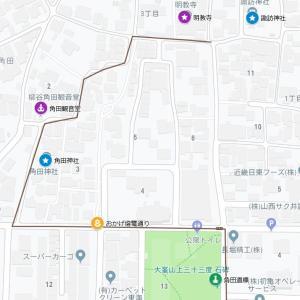 宇波神社の参道⑦角田神社(東大阪市・角田)