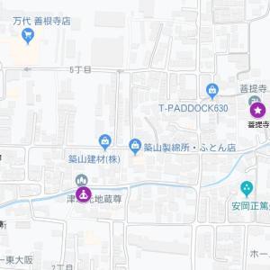 善根寺春日神社の参道⑱東高野街道・善根寺(東大阪市)