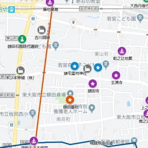 枚岡神社の参道⑲東高野街道・額田(東大阪市)