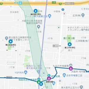 津原神社の参道⑰河内街道・菱江(東大阪市・横枕~菱屋)