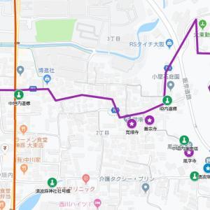 須波麻神社の参道⑯古堤街道・中垣内(大東市・中垣内)