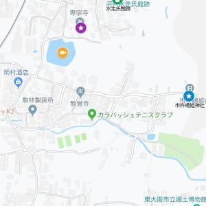 瓢箪山稲荷神社の参道②市杵嶋姫神社(東大阪市・客坊町)