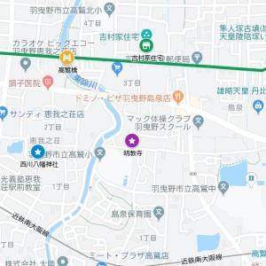 大津神社の参道③長尾街道・島泉(羽曳野市)