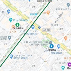 開口神社の参道②顕本寺(堺市・堺区・宿院町)