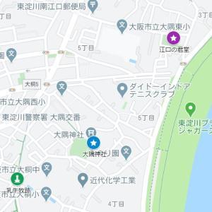 大隅神社の参道②江口の君堂(大阪市・東淀川区・南江口)