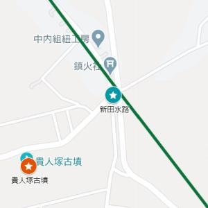 宇流冨志禰神社の参道⑰新田水路(名張市・新田)