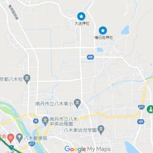摩気神社の参道①幡日佐神社(南丹市・八木町・氷所)