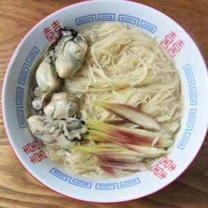 牡蠣の台湾麺線