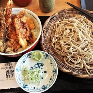 進次郎で、本土天丼と蕎麦を