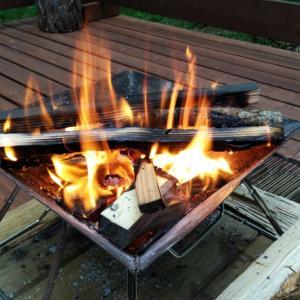 焚き火でホットサンドメークしてみた件