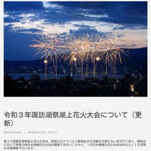 今夜から始まる諏訪湖の花火