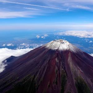 富士山初冠雪❄️