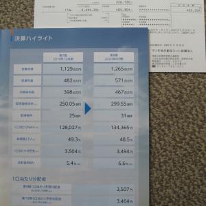 マリモリートから分配金 40万円