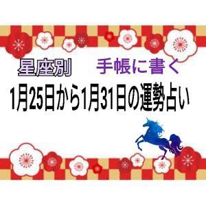 【手帳に書く】今週(1月25日~31日)の12星座別運勢占い