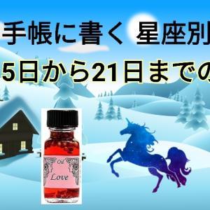 手帳に書く星座別運勢占い2月15日~21日