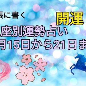 手帳に書く 星座別開運運勢占い3月15日から21日