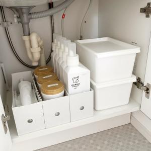 【洗面台】収納を見直し!どーんと置いたものは…