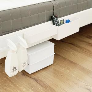 【寝室】ダイソーのボックスでベッド下がスッキリ♩