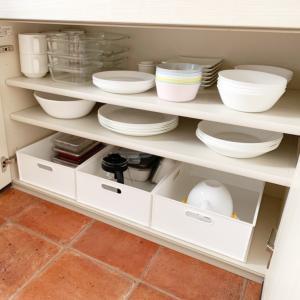 【キッチン】食器棚の収納方法と食器を見直し!もう重い食器は使えない?