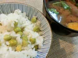 【食】豆御飯
