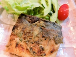 【食】塩鯖のムニエル