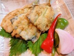 【食】鰯のカレー粉焼