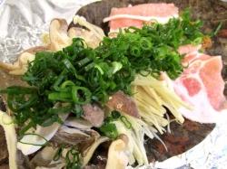 【食】豚肉の朴葉味噌焼き