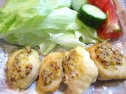 【食】鶏のマスタード焼き