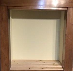 古家DIY 押入れ上段を飾り棚に(③壁紙)
