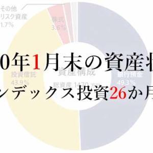 2020年1月末の資産状況/インデックス投資26か月目