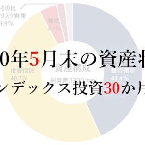 2020年5月末の資産状況/インデックス投資30か月目