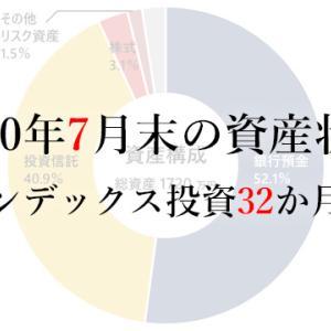 2020年7月末の資産状況/インデックス投資32か月目