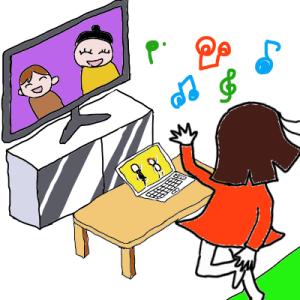 テレビを見ながら(1年と255日目)